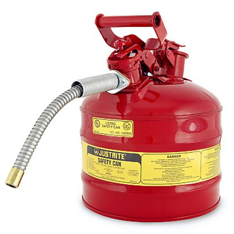 Safety Gas Can >> Type Ii Safety Gas Can For Flammables 2 Gal With 5 8 Metal Flexible Hose