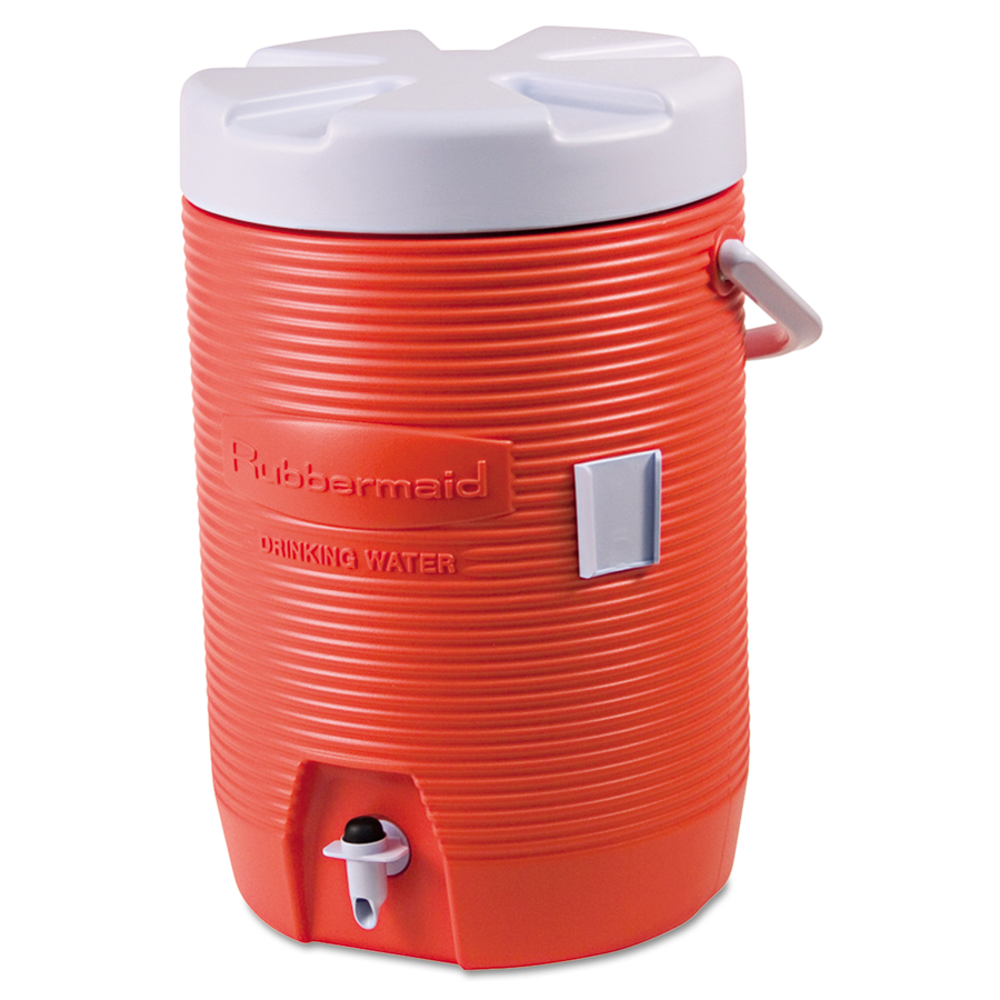 3 Gallon Orange Plastic Water Cooler 1683 01 11
