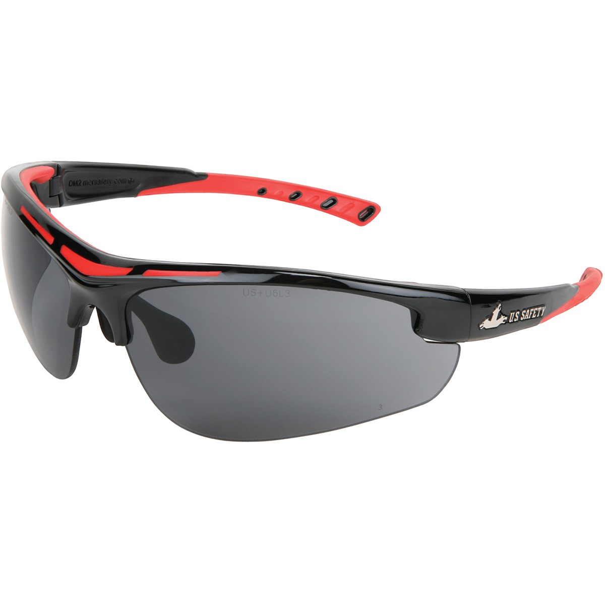 Dominator 2 - Gray MAX3 Anti-Scratch Lens Safety Glasses- DM1222P